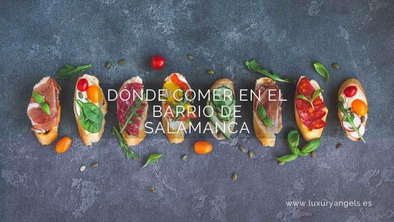 restaurantes barrio de salamanca madrid
